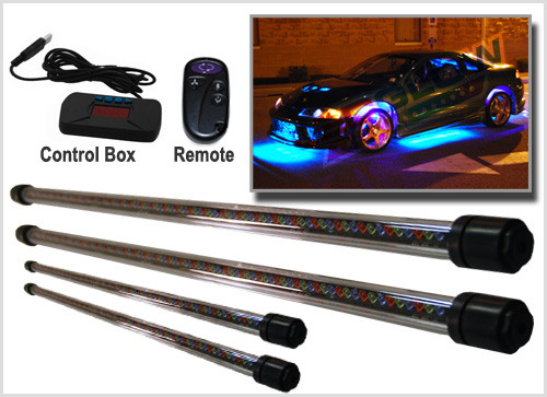 LEDGlow 6pc Pink Truck Slimline LED Underbody Underglow Accent Neon Lighting Kit Low Profile Tubes Included Power Switch Turns Lights On /& Off Solid Color Illumination Water Resistant